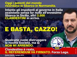 Slogan LegaNord Salvini