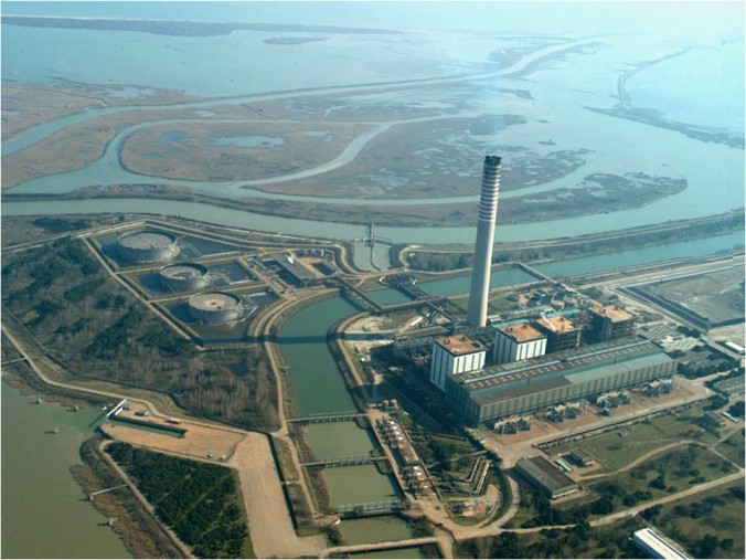 Centrale Elettrica di Porto Tolle, vista dall'alto