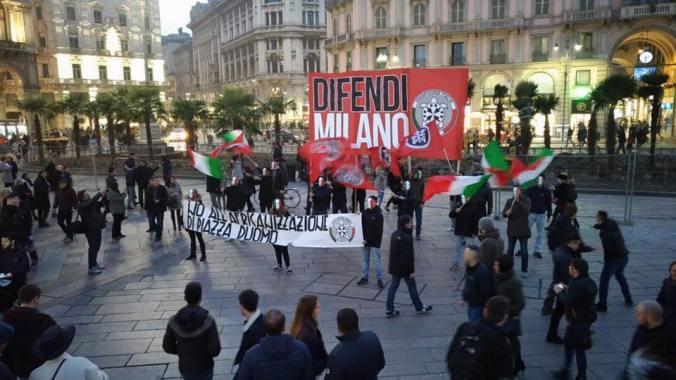 Manifestazione di Casapound a Milano