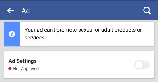 Facebook ADV Alert